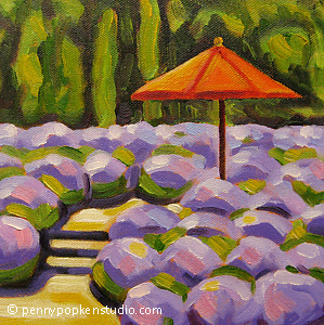 The Resting Spot (#73) by Penny Popken Oil ~ 8 x 8