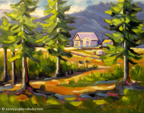 White Sulphur Springs Ranch (#79) by Penny Popken Oil ~ 11 x 14