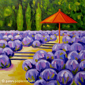 Up a Lavender Path (#95) by Penny Popken Oil ~ 20 x 20