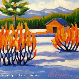 Winter Glow (#129) by Penny Popken Oil ~ 10 x 10