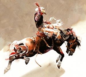 Cowboy Action Paintings