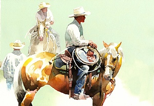 Calm Cowboy Paintings