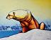 Hunger Burns -Polar Bear and Caribou by joe triano