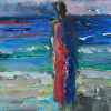 Abstract Figure At The Beach