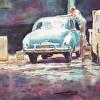 c Havana Garage watercolor 21x29
