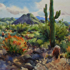 Scottsdale Desert by William Rogers Watercolor ~ 10.25 x 14