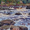 Liscomb River by William Rogers Watercolor ~ 14.25 inches x 21 inches
