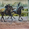 Morning Workout, Woodbine by William Rogers Watercolor ~ 10.25 inches x 14 inches