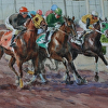 "Northlands Start by William Rogers Watercolor ~ 13,25"" x 25"""