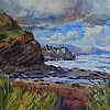 "Windy Day at Broadcove by William Rogers Watercolor ~ 10.25"" x 14"""