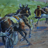 Rogers W 1 Chasing the Leader by William Rogers Watercolor ~ 10.75 x 14.25