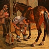 Farrier by William Rogers Oil ~ 24 x 30