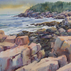 Acadia Cliffs by William Rogers Watercolor ~  x