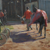 Back to the Paddock Barn by William Rogers Oil ~ 8 x 10