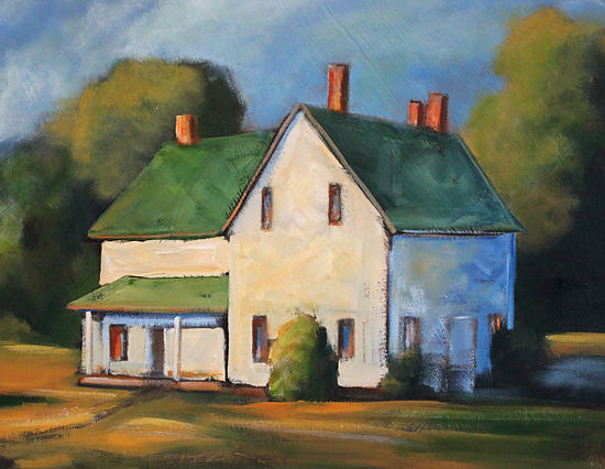 Toni Grote Work Zoom Folk Art Farm House