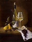 Chardonnay with Hints of Pear by Christine Hooker Oil ~ 12 x 9