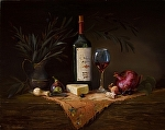 Passionately Uncorked by Christine Hooker Oil ~ 16 x 20