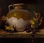 Tuscan Pottery II by Christine Hooker Oil ~ 6 x 6