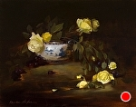 Fallen Yellow Roses by Christine Hooker Oil ~ 11 x 14