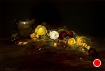 Ranunculus & Silver by Christine Hooker Oil ~ 12 x 16