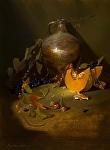 Salt Glazed Crock & Squash by Christine Hooker  ~ 16 x 12