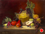 Market Bounty by Christine Hooker Oil ~ 12 x 16