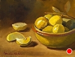 Sublime Keylimes by Christine Hooker Oil ~ 8 x 10