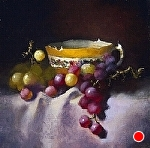 Golden Treasure by Christine Hooker Oil ~ 6 x 6