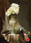 Green Chinese & Lace by Christine Hooker Oil ~ 16 x 12