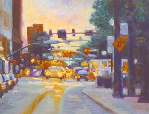 """Downtown by Laura Reilly Oil ~ 11"""" x 14"""""""
