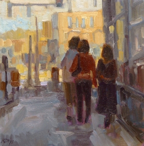 "Downtown Day by Laura Reilly Oil ~ 10"" x x 10"""