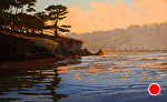 "Point Lobos Reserve - Coal Chute Pt. by Mark Farina  ~ 30"" x 48"":"