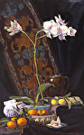 "Orchid & Citrus by Mark Farina Oil ~ 27"" x 17"""