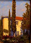 Tuscan Light Bartholomew Vineyard Park by Mark Farina Oil ~ 16 x -