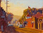 """Sonoma - Napa Street Late Light by Mark Farina Oil ~ 11"""" x 14"""""""