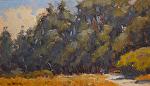 "Garland Park Stroll by Mark Farina Oil ~ 7"" x 14"""
