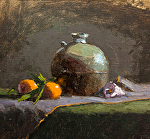 "Still-Life with Mandarins & Sea Shell by Mark Farina Oil ~ 14"" x 13"""