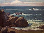 """Hidden Beach - Pt. Lobos by Mark Farina Oil ~ 9"""" x 12"""""""