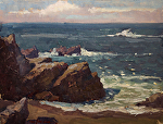 "Hidden Beach - Pt Lobos 9x12-14 by Mark Farina Oil ~ 9"" x 12"""