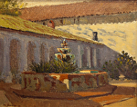 "San Miguel Mission Fountian by Mark Farina Oil ~ 11"" x 14"""