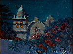 "Carmel Mission Nocturne by Mark Farina Oil ~ 12"" x 16"""