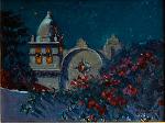 "Carmel Mission Nocturne by Mark Farina Oil ~ 12"" x 16"""
