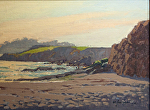 "View Toward Pebble From Carmel Beach by Mark Farina Oil ~ 12"" x 16"""