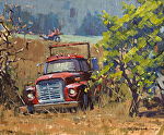 "Out To Pasture by Mark Farina Oil ~ 9"" x 11"""