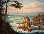 "Granite Rock Point - Pt. Lobos by Mark Farina Oil ~ 14"" x 18"""