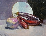 "Still-Life With Eggplant by Mark Farina Oil ~ 8"" x 10"""
