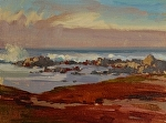 "Asilomar Dunes & Rocks by Mark Farina Oil ~ 9"" x 12"""
