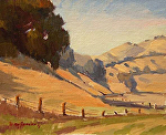 "Carmel Valley - Near Tassaharra Road by Mark Farina Oil ~ 8"" x 10"""