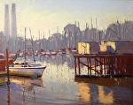 "Moss Landing Loading Docks by Mark Farina  ~ 16"" x 20"""