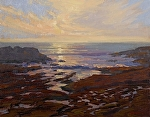"Weston Cove - Point Lobos Reserve - California by Mark Farina Oil ~ 16"" x 20"""